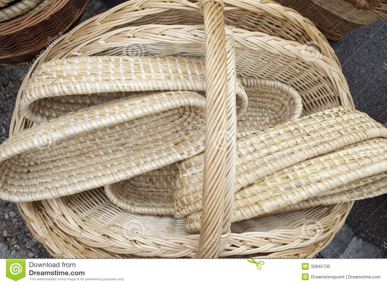 Animal Wicker Hamper Wicker Baskets And Boxes Royalty Free Stock Photo Image