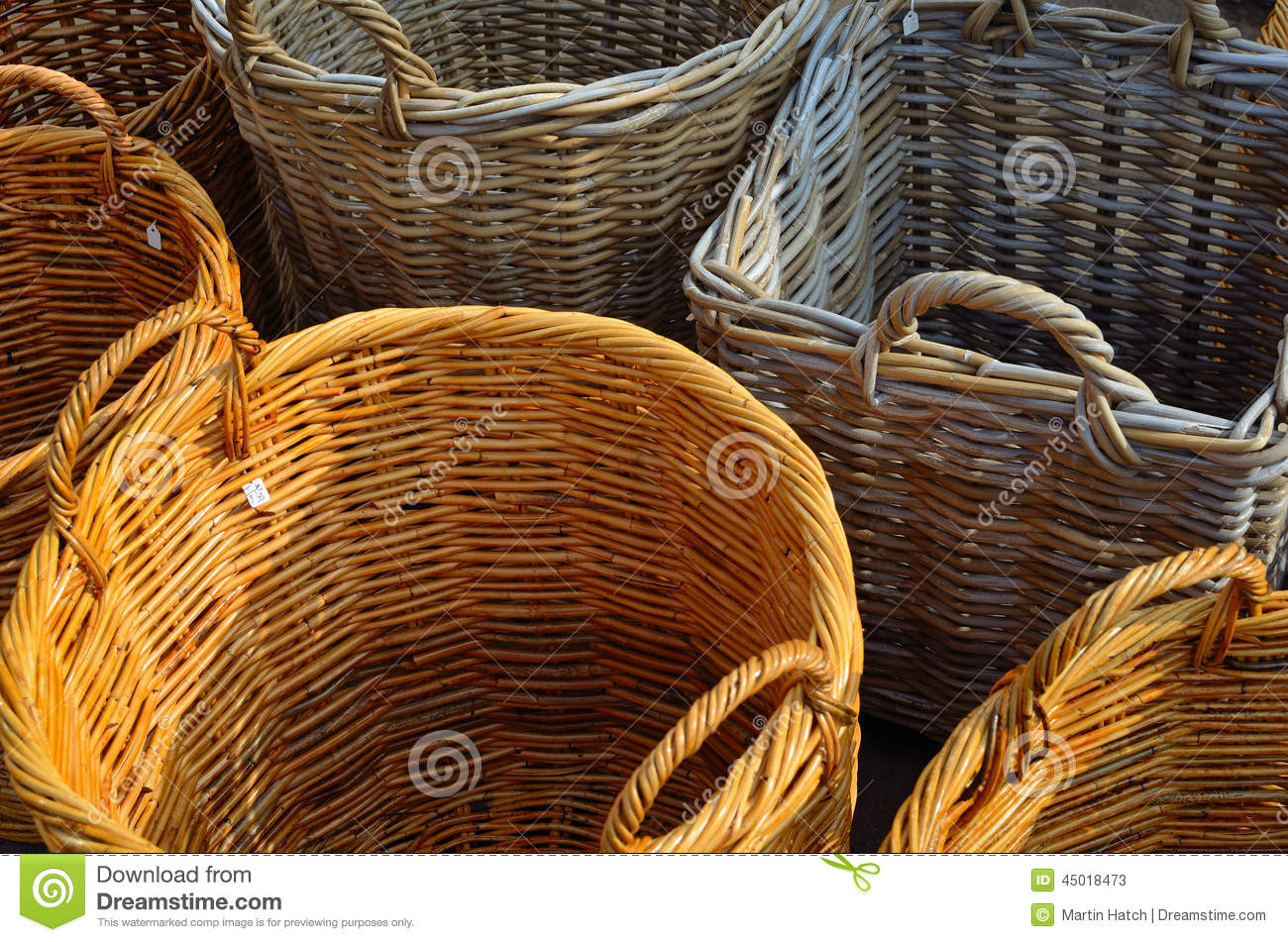 Animal Wicker Hamper Wicker Baskets Stock Photo Image 45018473