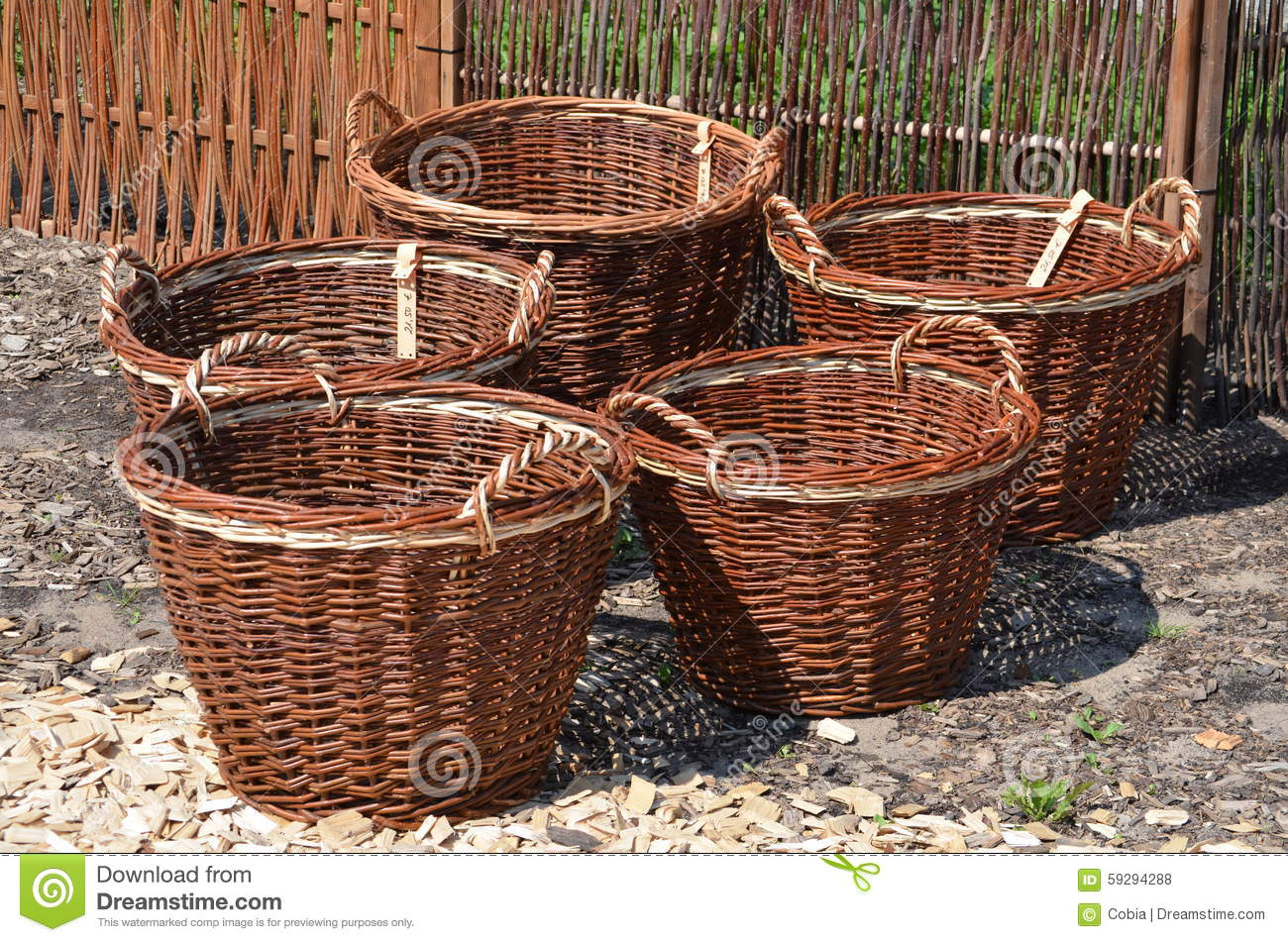 Animal Wicker Hamper Wicker Baskets Stock Photo Image 59294288