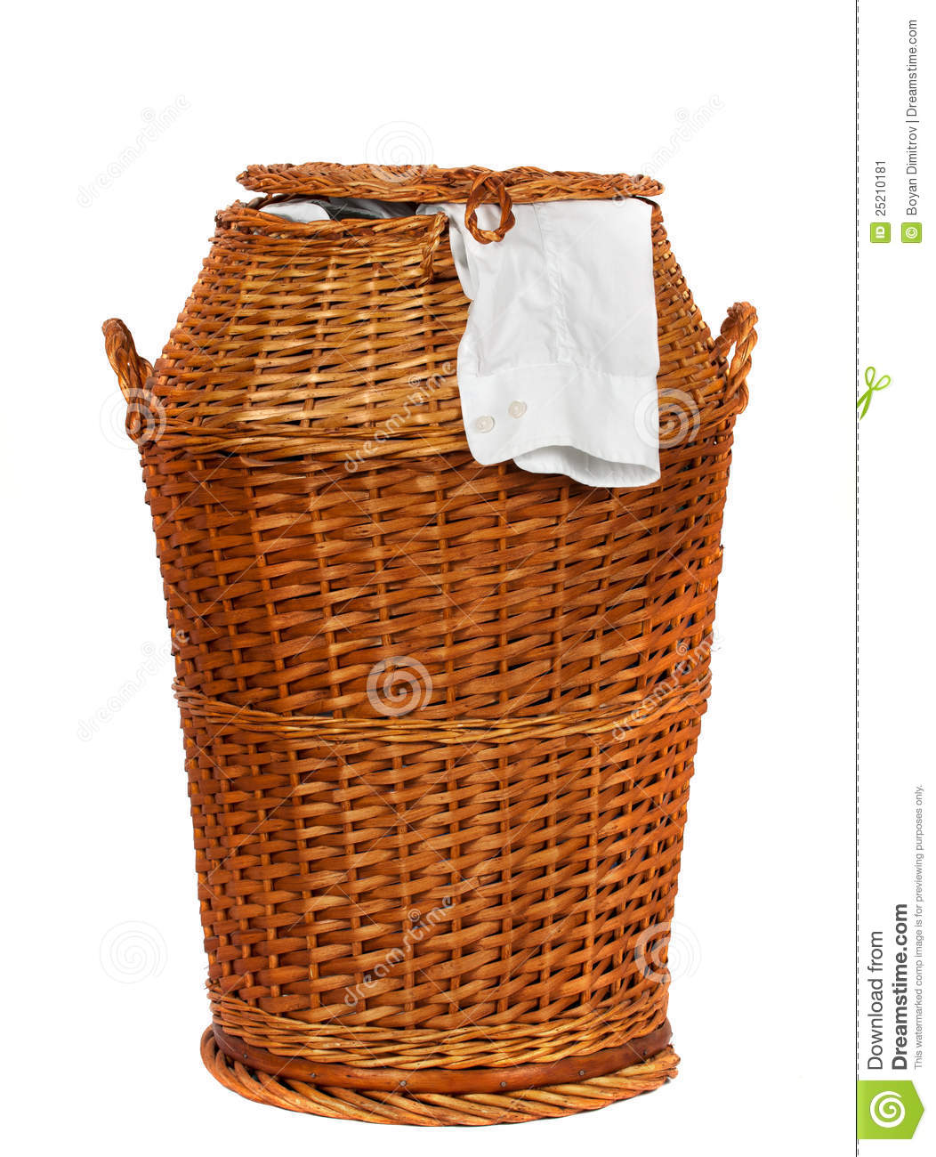 Animal Wicker Hamper Wicker Laundry Basket Stock Image Image 25210181