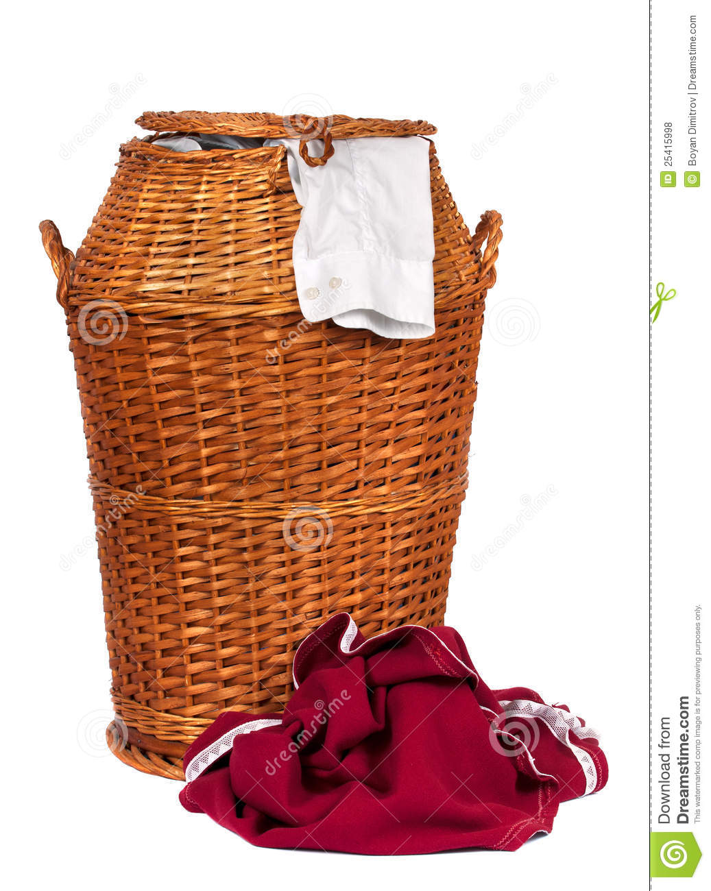 Animal Wicker Hamper Wicker Laundry Basket Royalty Free Stock Photos Image
