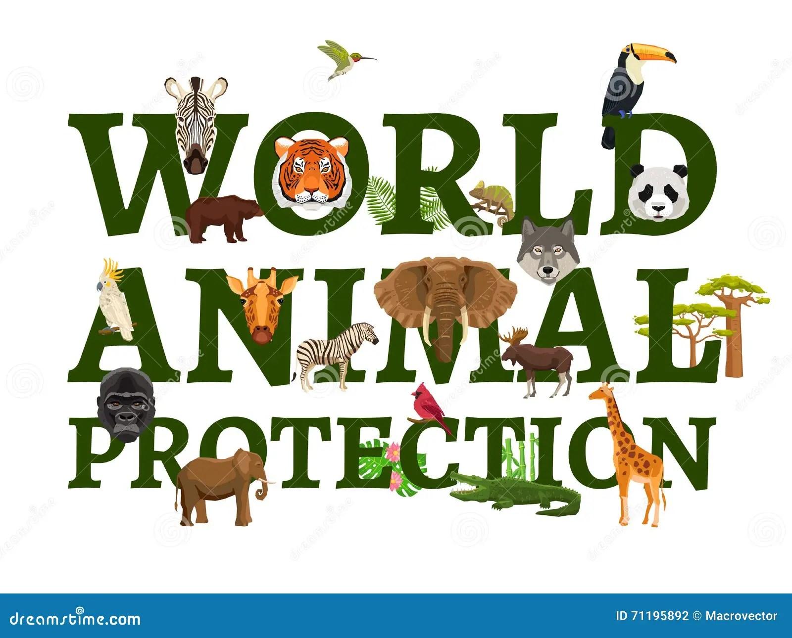 Red Animal Print Wallpaper Wild Animal Protection Illustration Vector Illustration