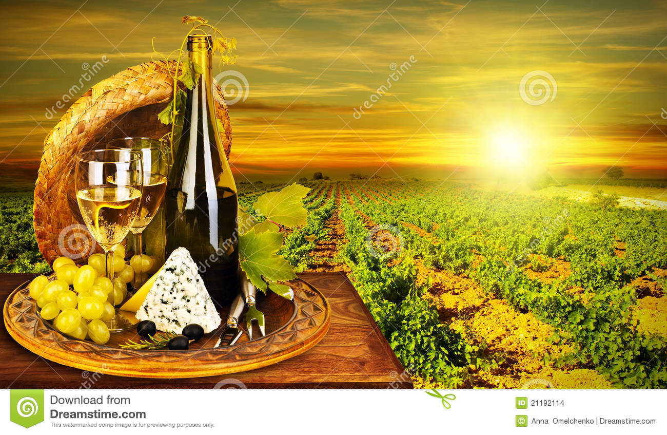 Free Fall Harvest Wallpaper Wine And Cheese Romantic Dinner Outdoor Stock Photo