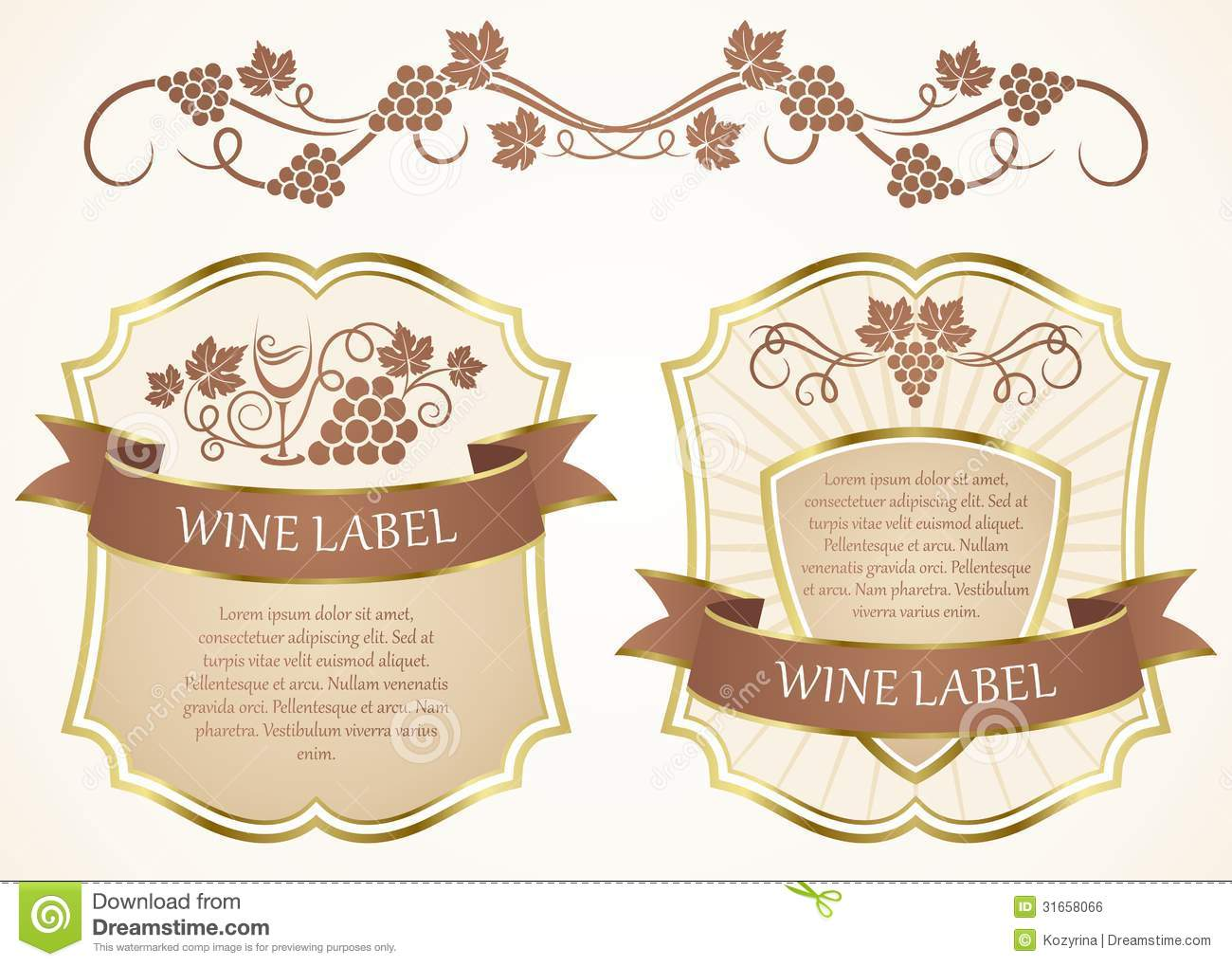 Doc425242 Wine Label Template Word Free Printable Wine Labels – Wine Bottle Label Template Word