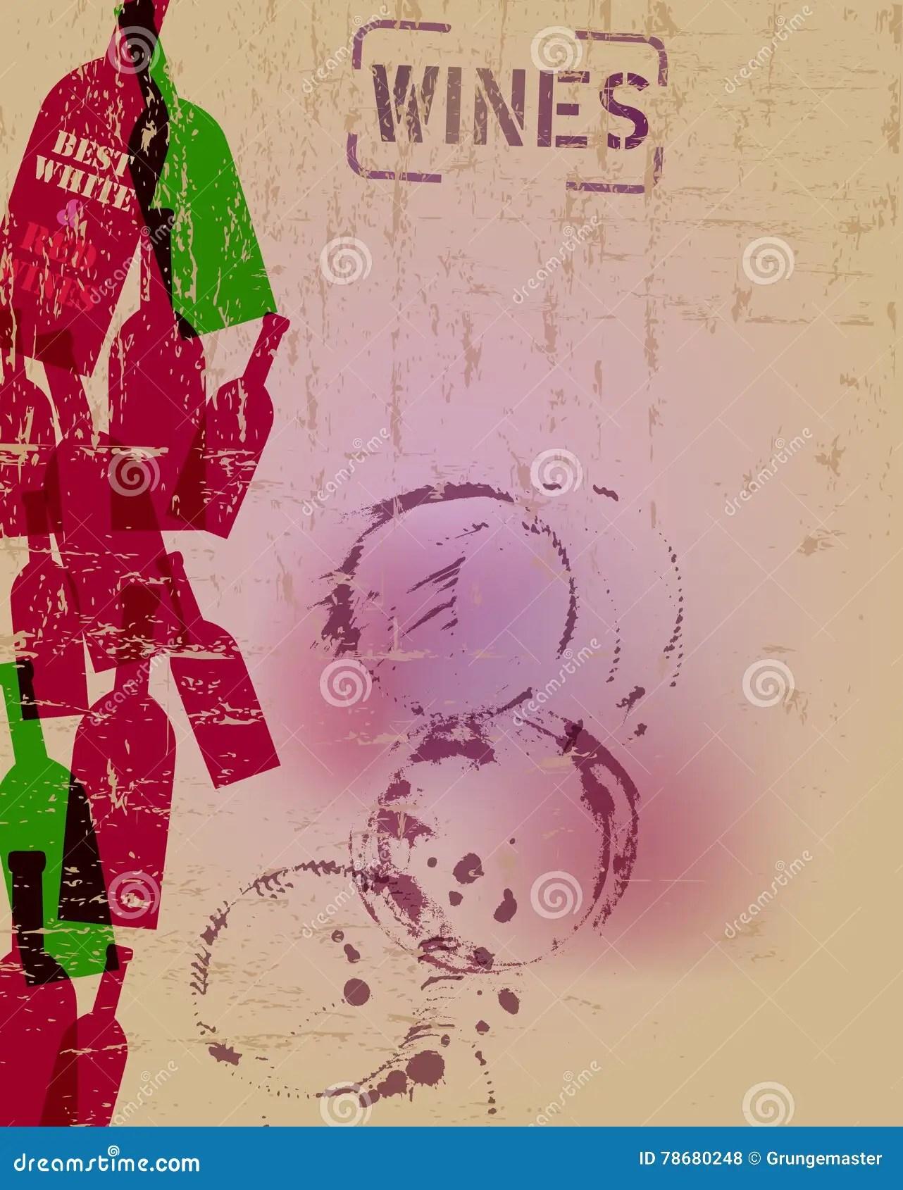 Wine List Menu Design Template Stock Vector - Illustration of
