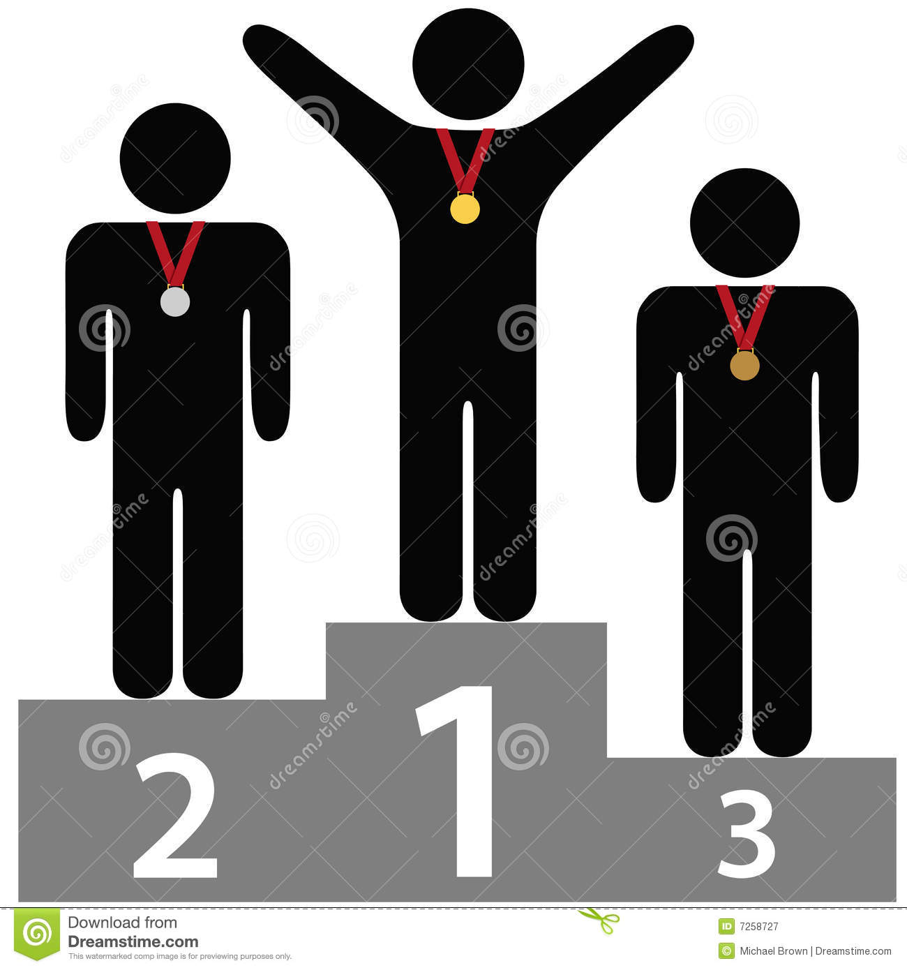 Sieger Clipart First Second And Third Place Stock Photography