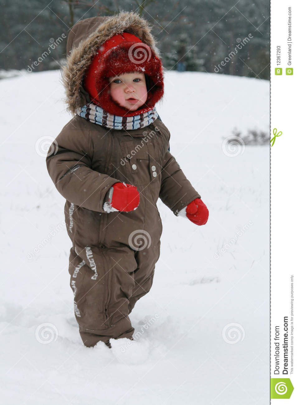 Snow And Ski Clothing Winter Baby Stock Photos - Image: 12367293