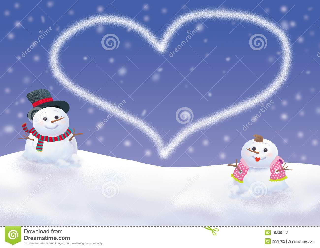 Animated Girl Wallpaper Free Download Winter Background With Snowman Stock Illustration Image