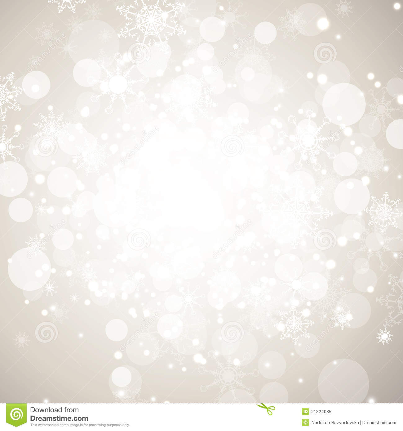 Christmas Wallpaper Snow Falling Winter Holiday Abstract Background Stock Vector