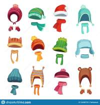 Winter Kids Hat. Warm Childrens Hats And Scarves. Headwear ...