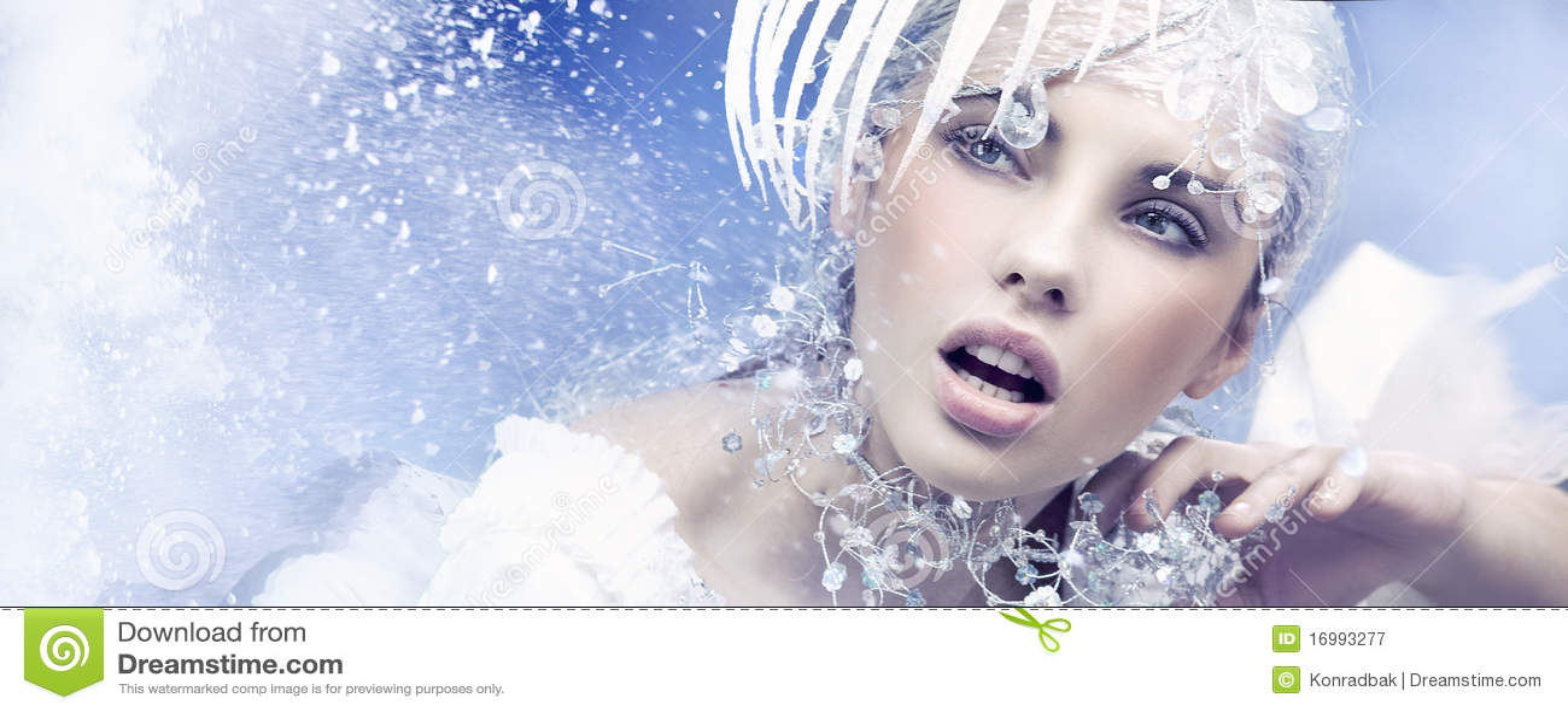 Dreamy Girl Wallpaper Winter Queen Stock Image Image Of Blue Fantasy