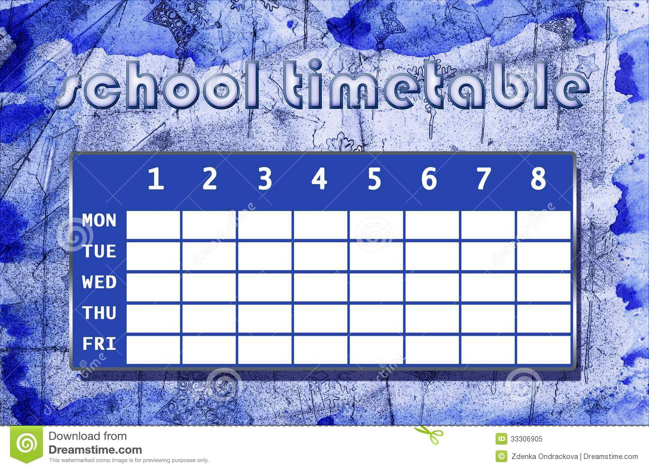 school timetable template free download