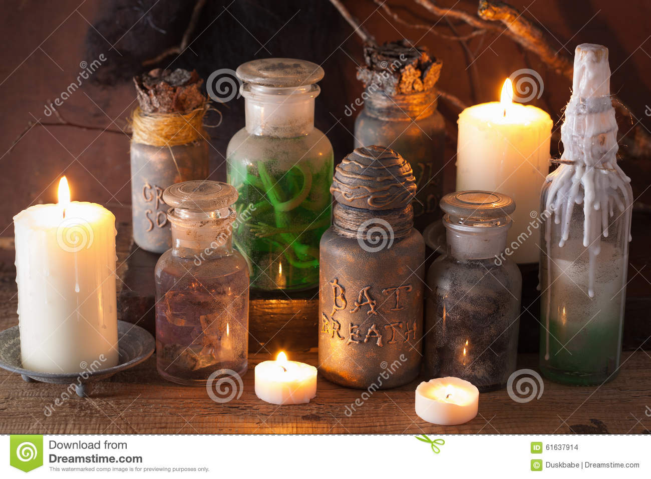 Harry Potter Fall Wallpaper Witch Apothecary Jars Magic Potions Halloween Decoration