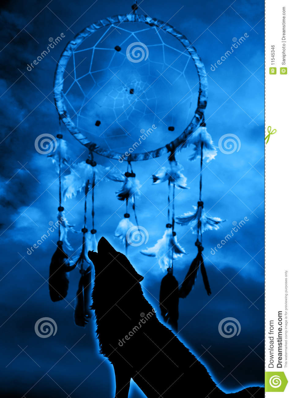 Cute Dreamcatcher Wallpaper Wolf And Dream Catcher Stock Illustration Illustration Of