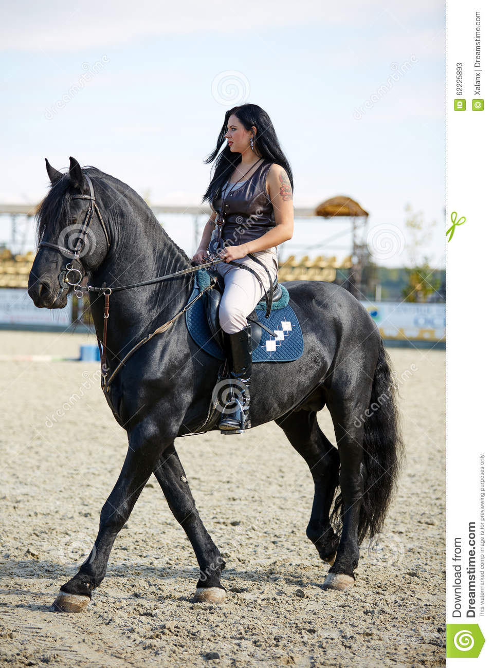 Girl Riding Horse Wallpaper Woman Astride A Horse Stock Image Image Of Lady Jockey
