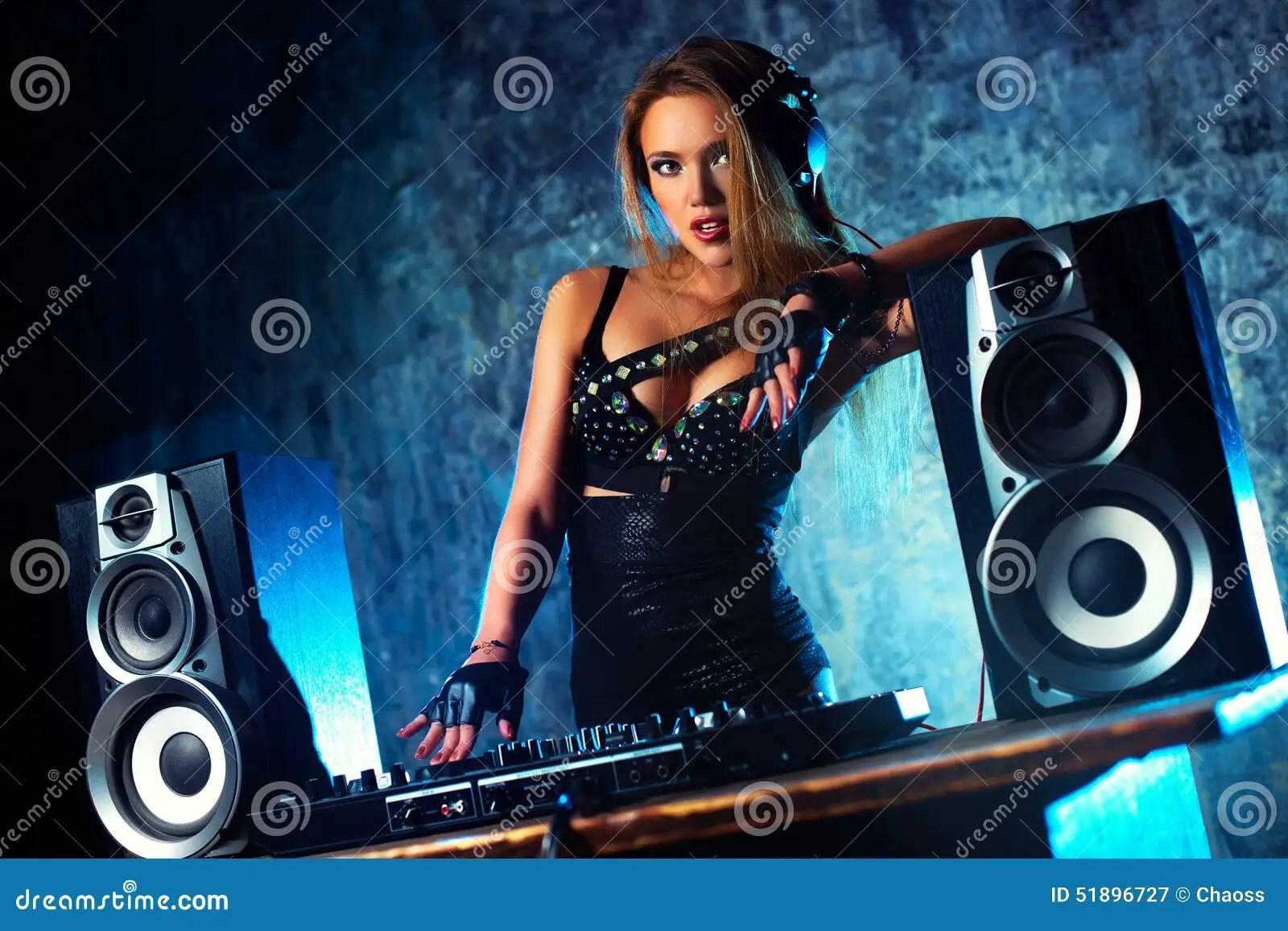 Wallpaper Djs Girl Woman Dj Stock Image Image Of Attractive Night