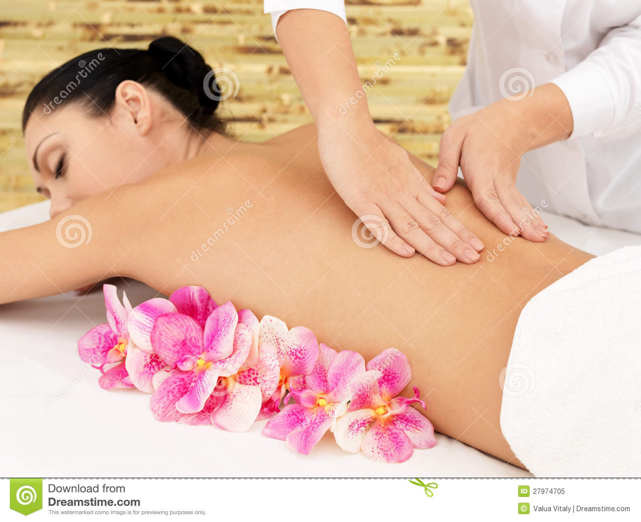 Salon Massage Body Body Woman On Healthy Massage Of Body In Beauty Salon Stock Image