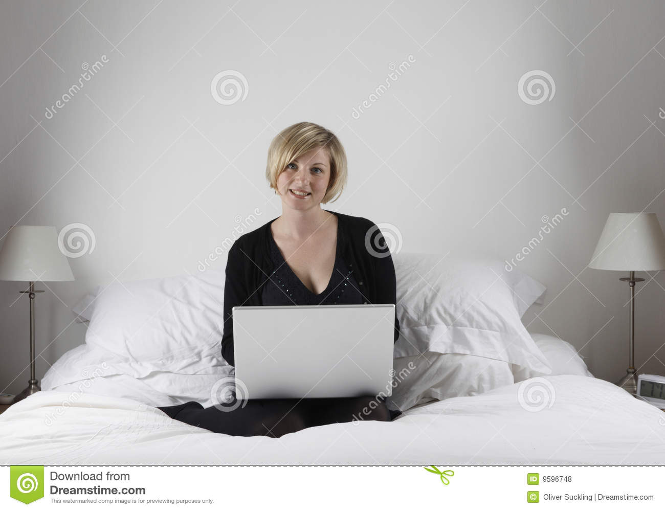 How To Be More Confident In Bed Woman With Laptop In Bed Royalty Free Stock Photos Image