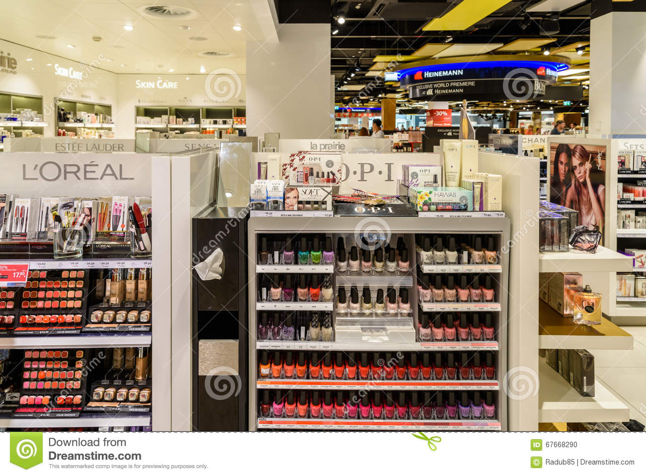Woman Nail Polish Products For Sale In Cosmetics Shop