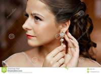 Woman With Diamond Earrings Royalty-Free Stock Photo ...