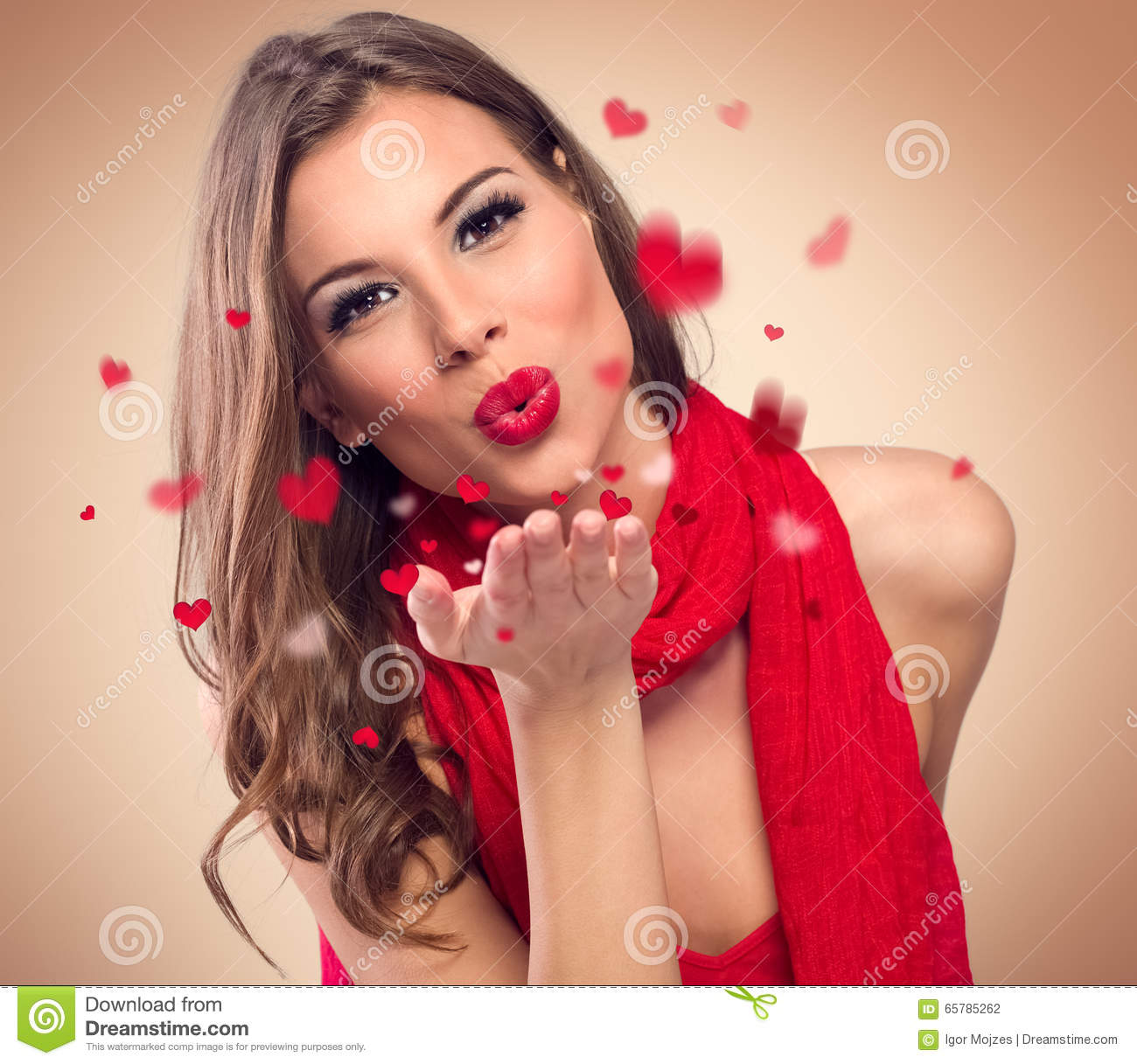 Cute Couple Kisses Wallpaper Woman To Blow Kisses Stock Photo Image 65785262