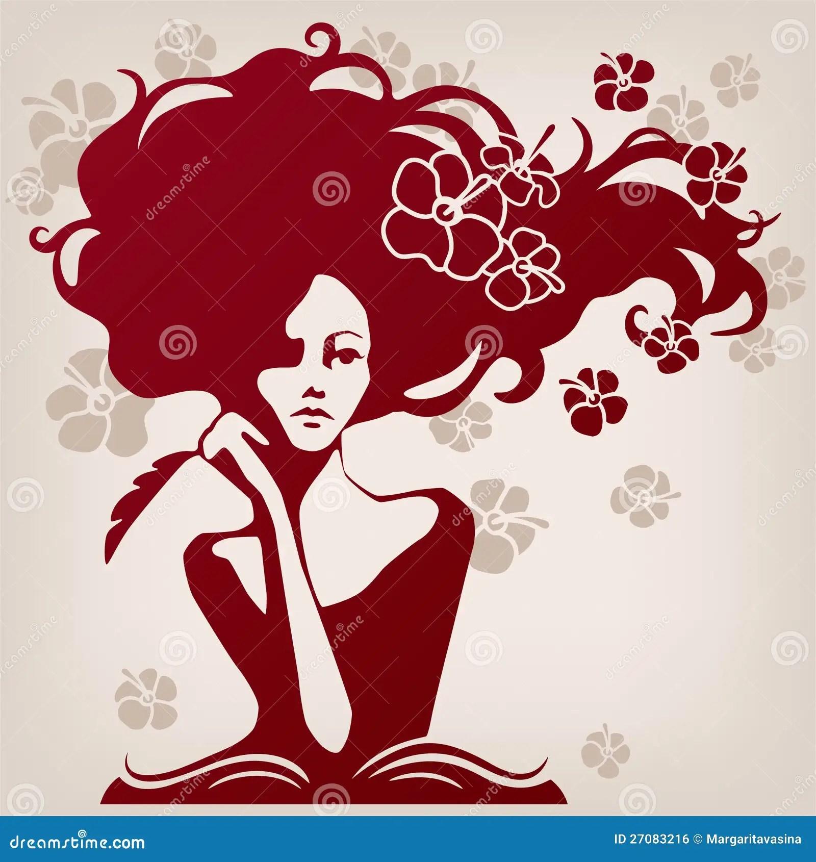 Pretty Girl Cartoon Wallpaper Woman Writer Royalty Free Stock Image Image 27083216