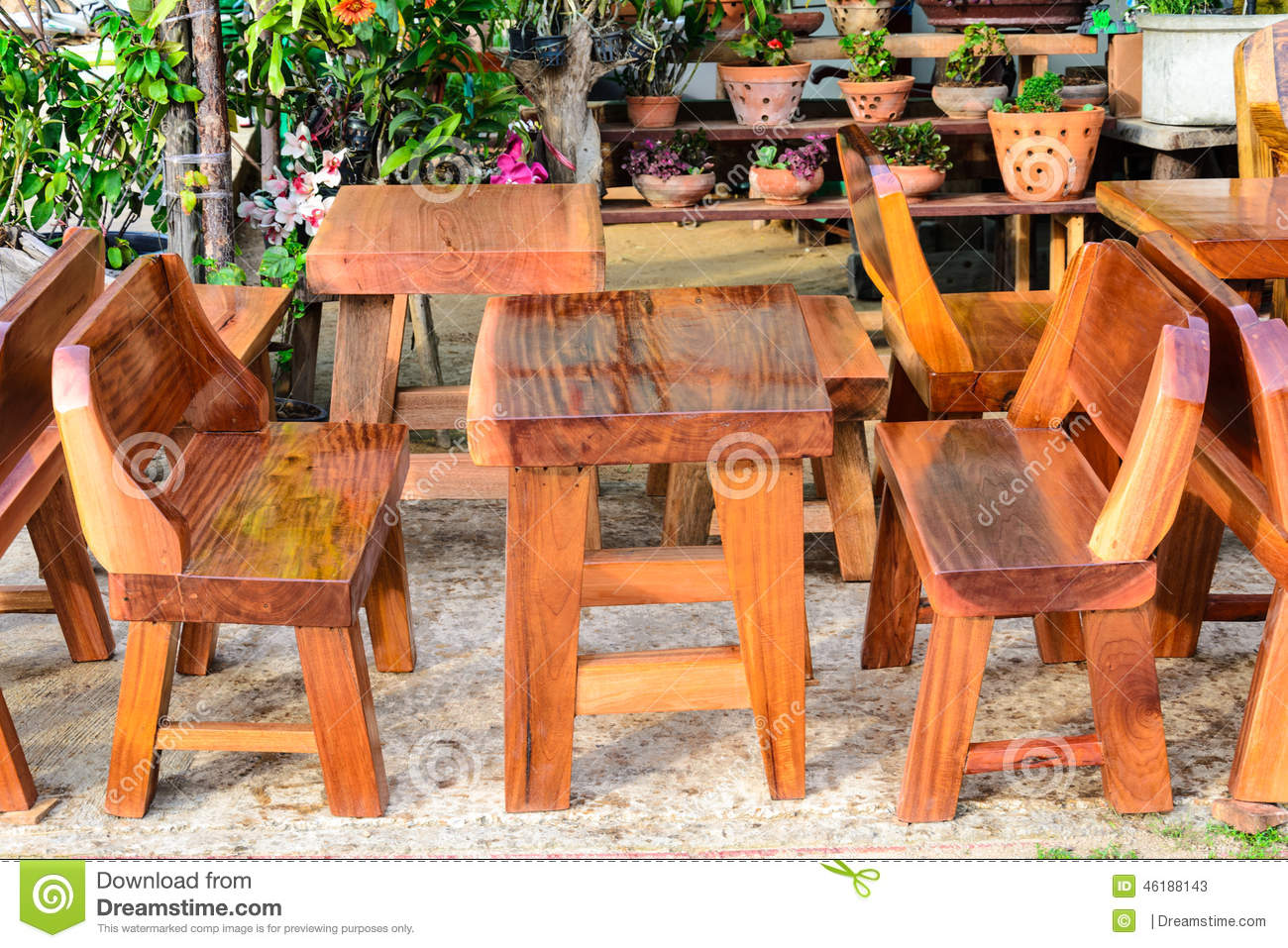 Furniture Market Wood Furniture In Market Fair Stock Image Image Of Living