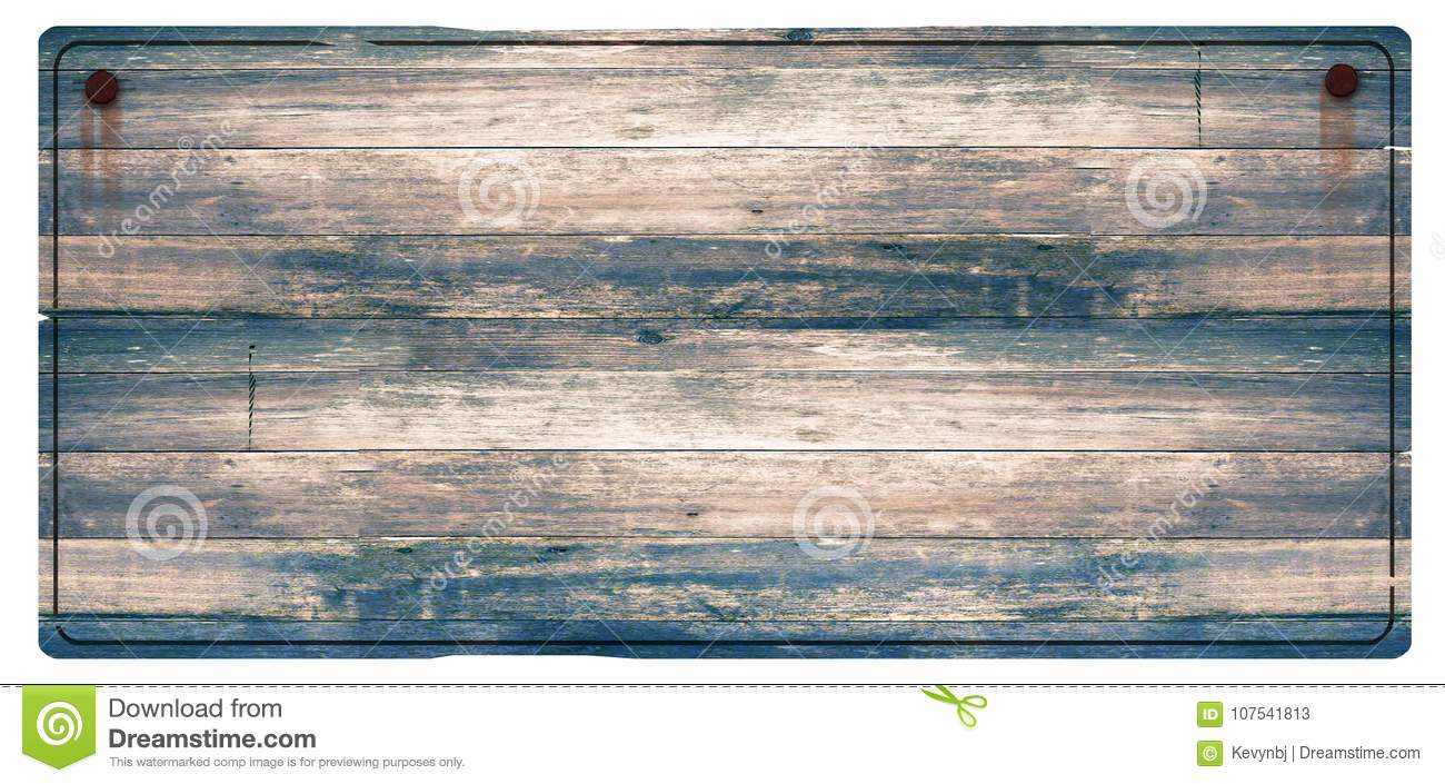 Wood Sign Rusted Nails Stock Image Image Of Grunge 107541813