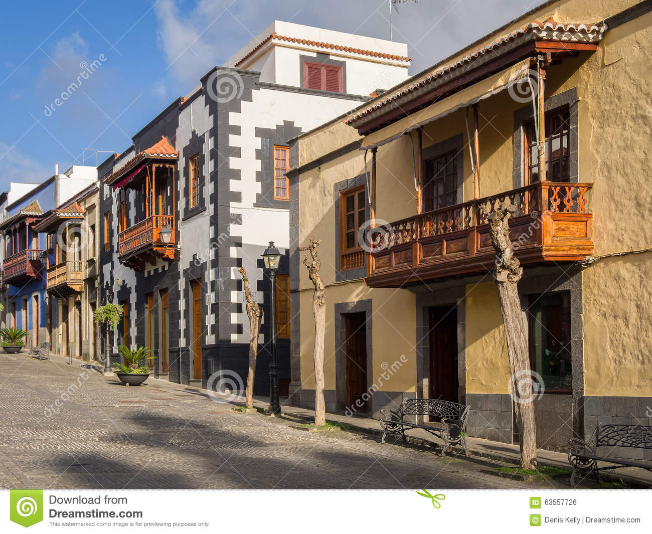 La Cucina Italiana Gran Canaria Wooden Balconies In Gran Canaria Spain Stock Photo