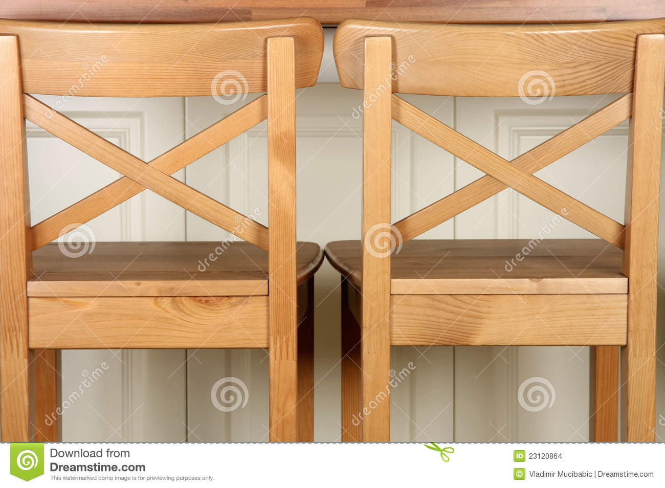 Wooden Kitchen Counter Stools Wooden Bar Stool And Kitchen Counter Stock Photo Image Of