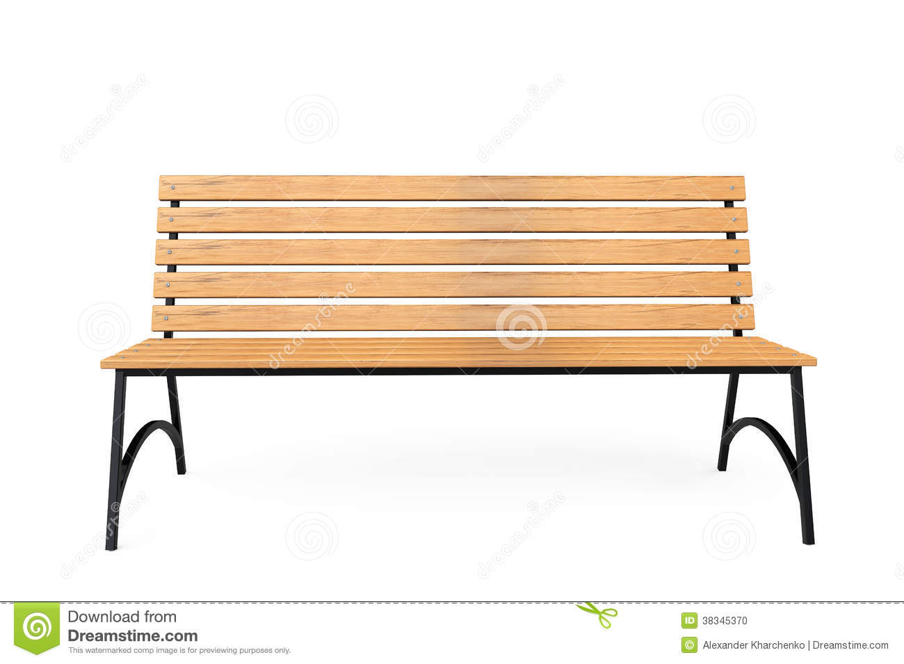 Wooden Park Benches Front Wooden Park Bench Stock Photo Image Of Design Chair