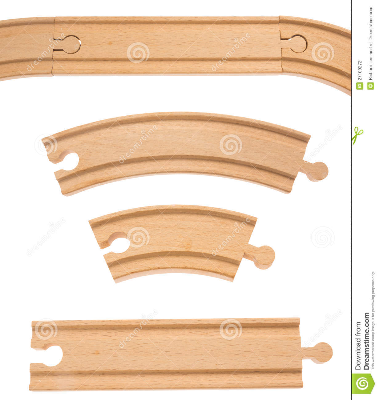 Wooden Train Tracks Wooden Railroad Track Stock Photography Image 27109272