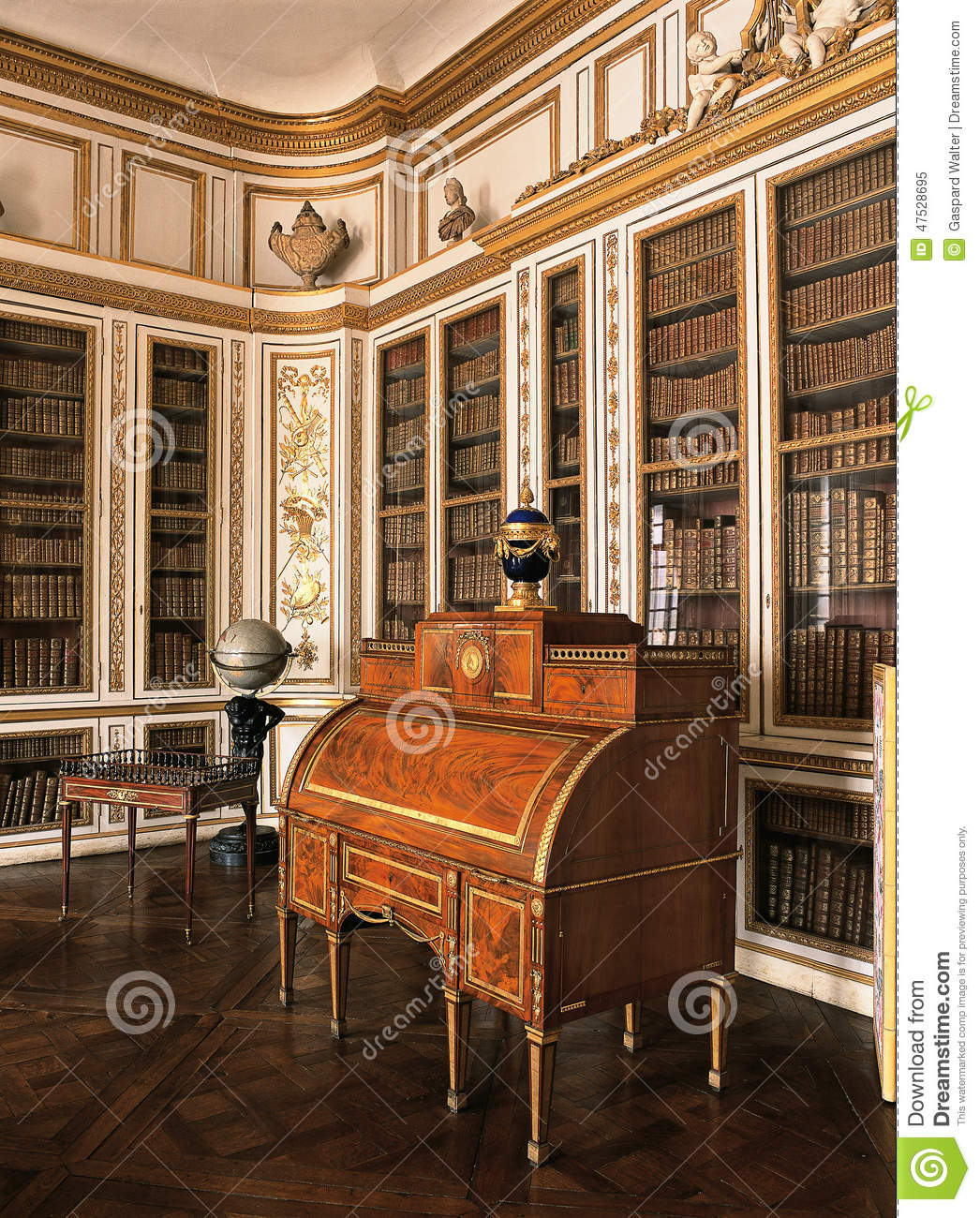 Muebles Palacios Wooden Room With Furniture At Versailles Palace Editorial
