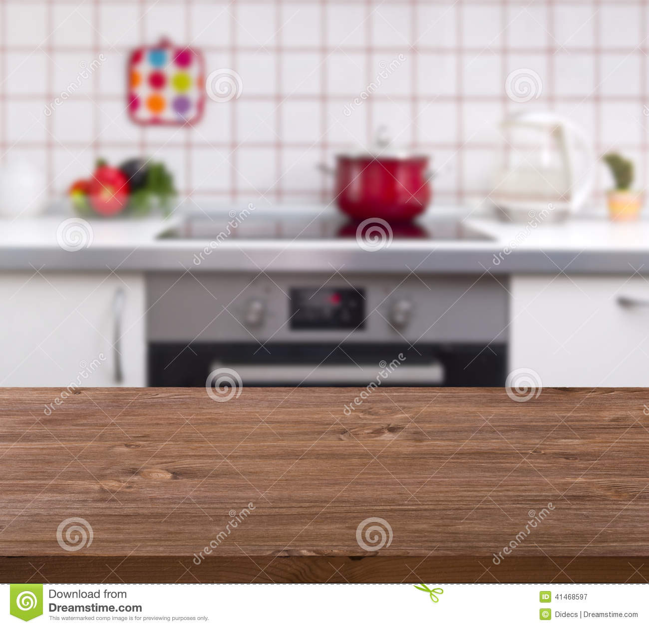 Rustic Fall Desktop Wallpaper Wooden Table On Kitchen Bench Background Stock Image