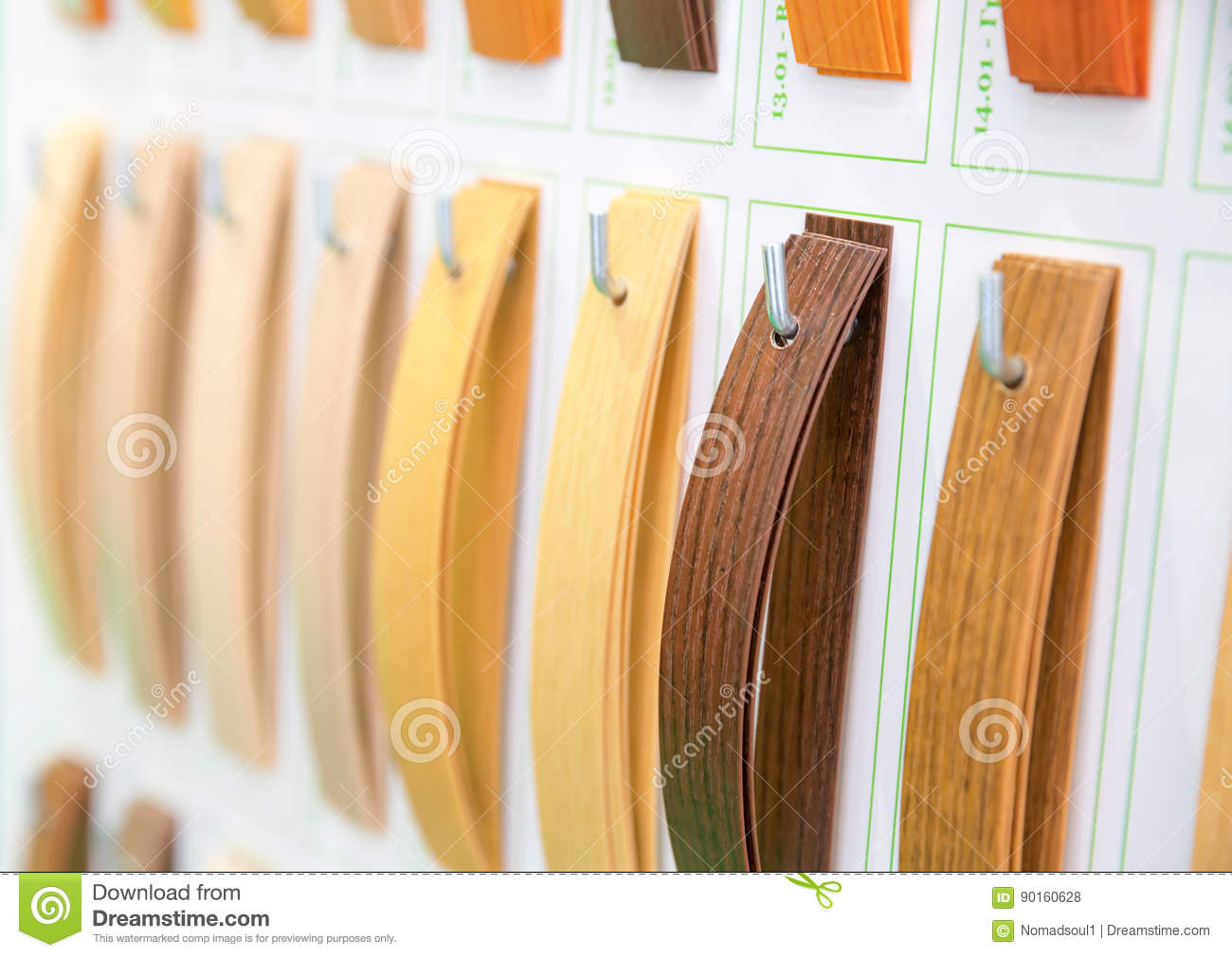 Palette Decoration Wooden Veneer Samples Palette Closeup Stock Photo Image Of