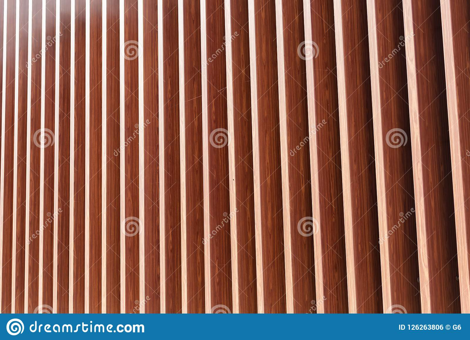 Vertical Wood Slat Wall Wooden Vertical Slats On A Wall Background Stock Photo Image Of