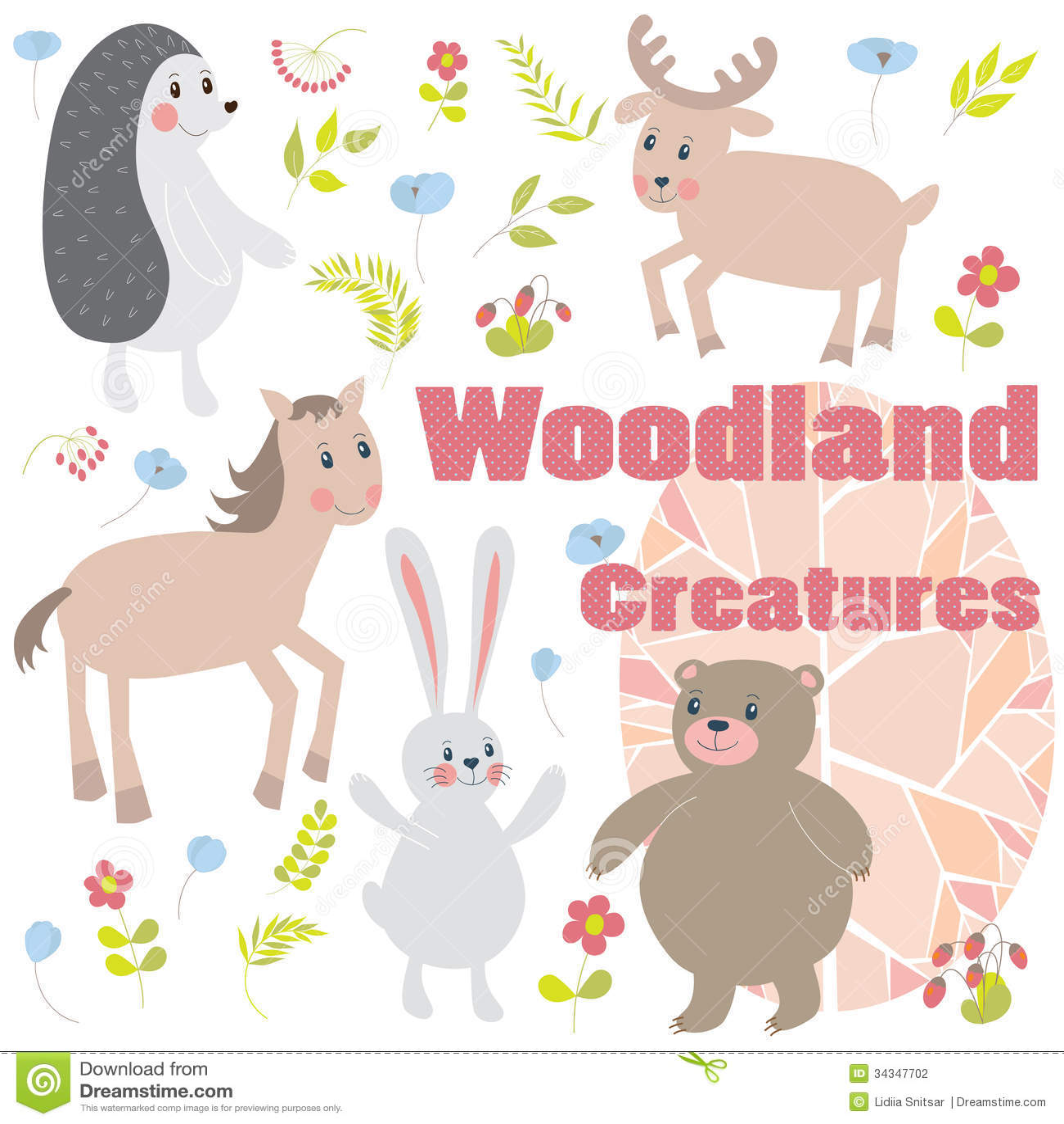 Fall Woodland Creatures Wallpaper Woodland Creatures Stock Illustration Image Of Design
