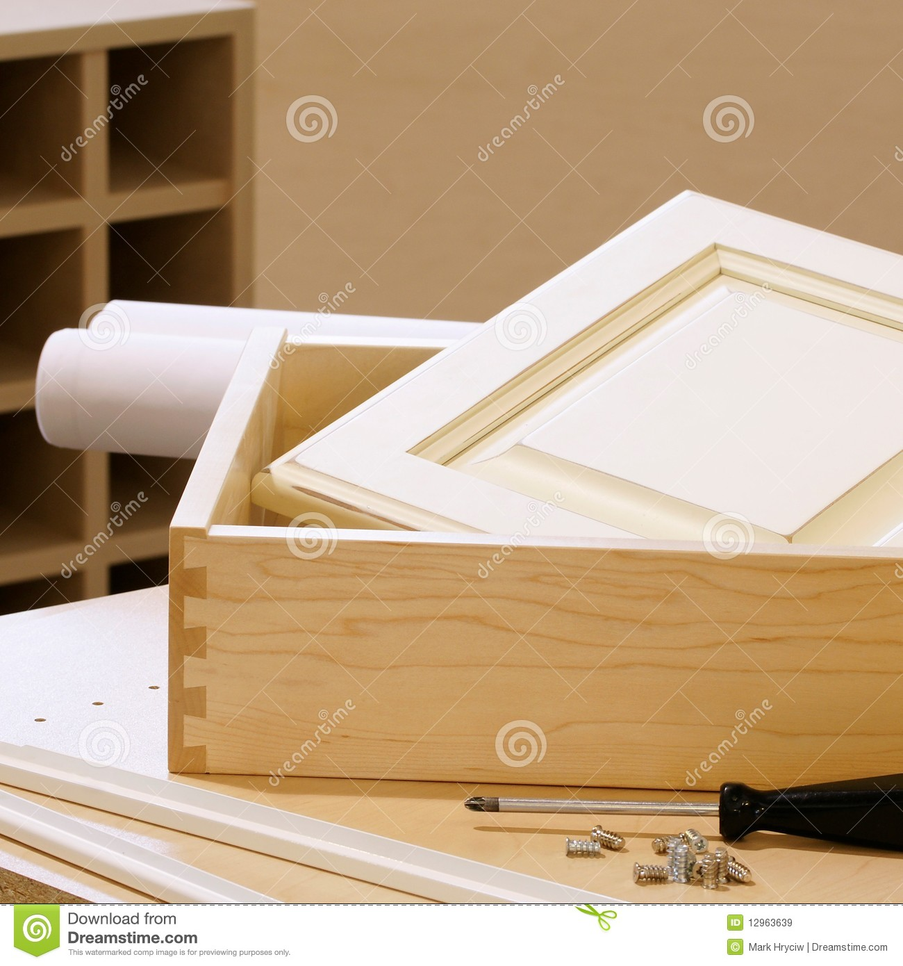 Building Kitchen Cabinets Video Woodworking Cabinet Construction Stock Image Image 12963639