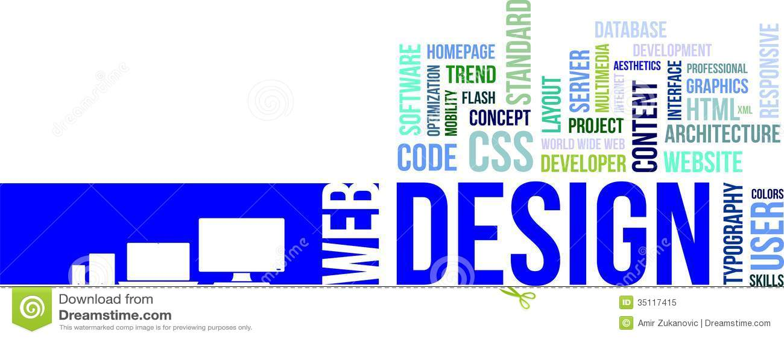Word cloud - web design stock vector Illustration of user - 35117415