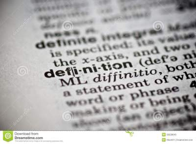 Word Definition In The Dictionary Royalty Free Stock Photo - Image: 29228645