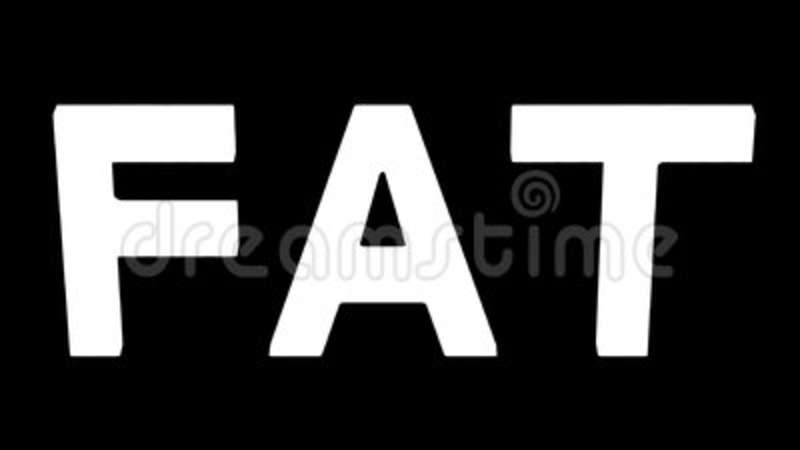 Word Fat Gain Weight And Loses Weight 3D Rendering Stock Video