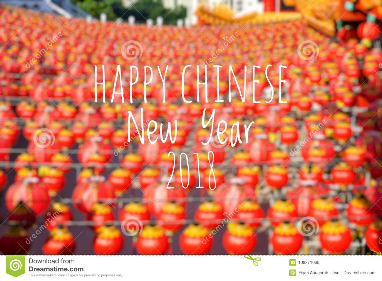 Happy Chinese Lantern Festival Wording Happy Chinese New Year 2018 With Blurred