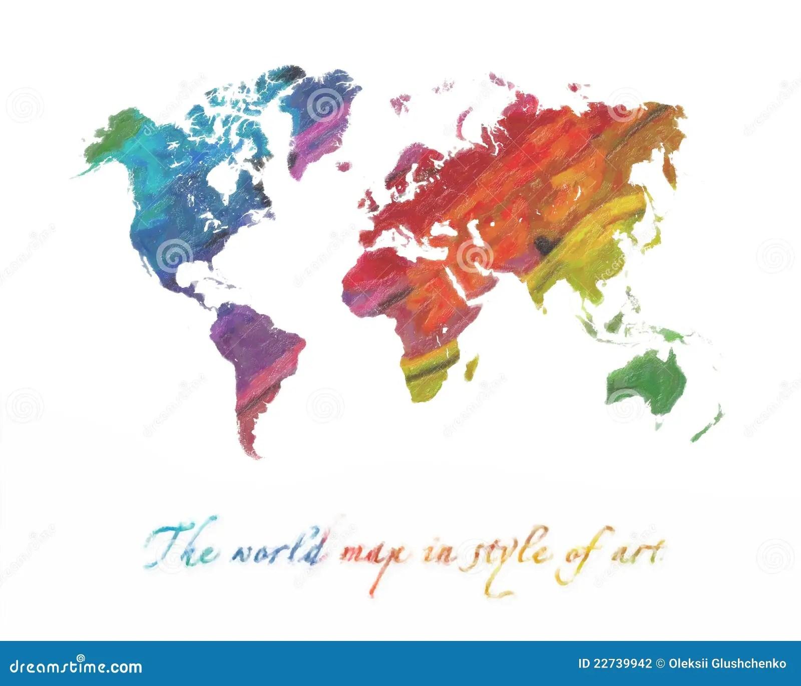 University Of Miami Wallpaper Hd World Map Multi Colored Stock Illustration Image Of
