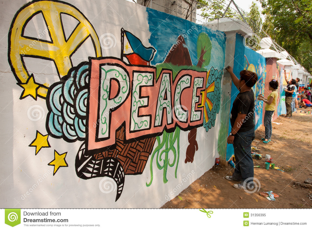 La Pintura Mural World Record Peace Mural Painting In Manila, Philippines