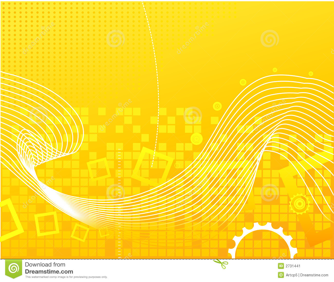 Scientific Wallpaper 3d Yellow Abstract Background Stock Image Image 2731441