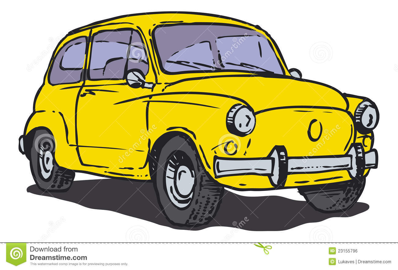 Trabant Clipart Yellow Car Stock Vector Illustration Of Auto Compact