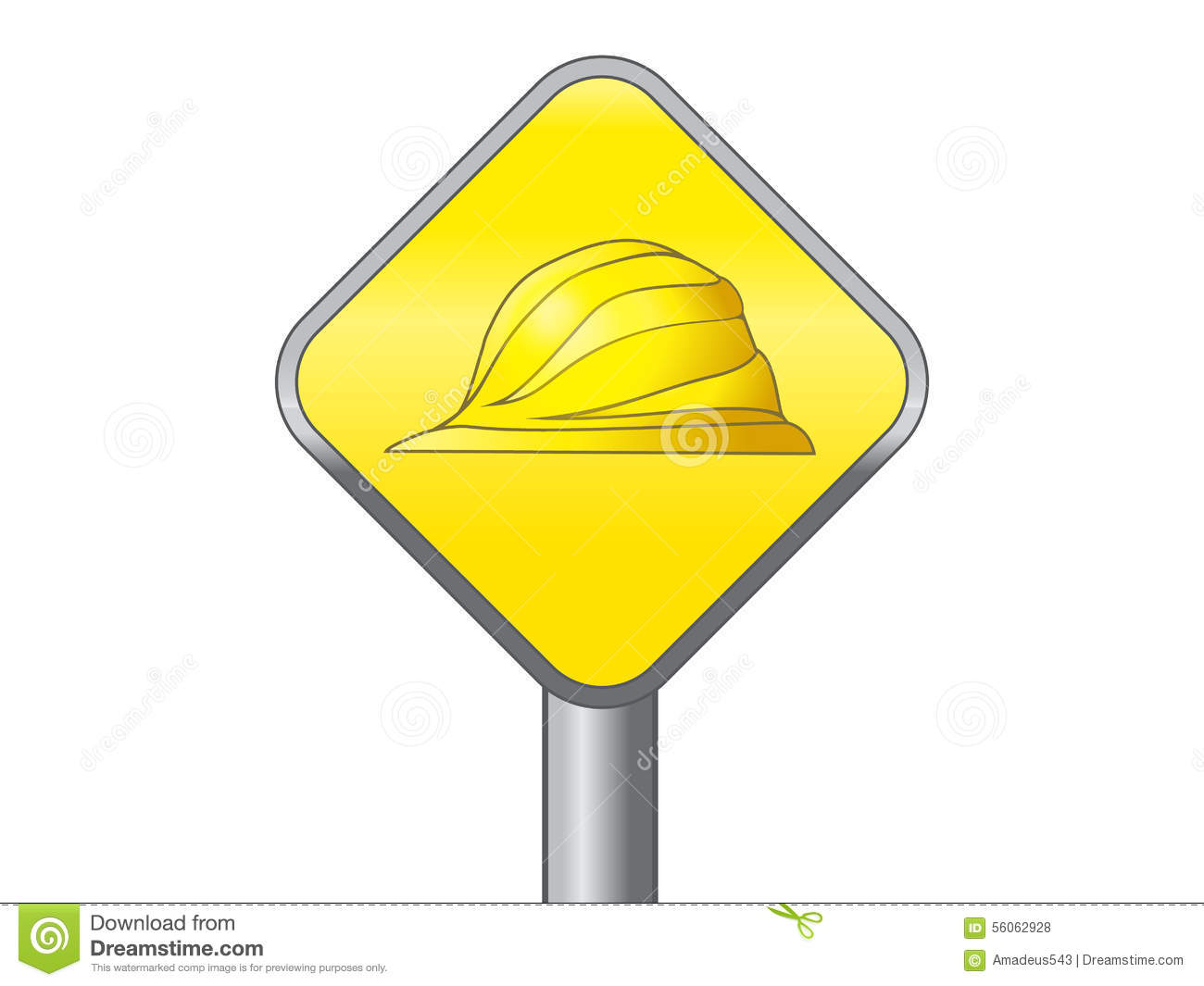 Labor Safety Yellow Hard Hat Safety Symbol Vector Icon Stock Vector