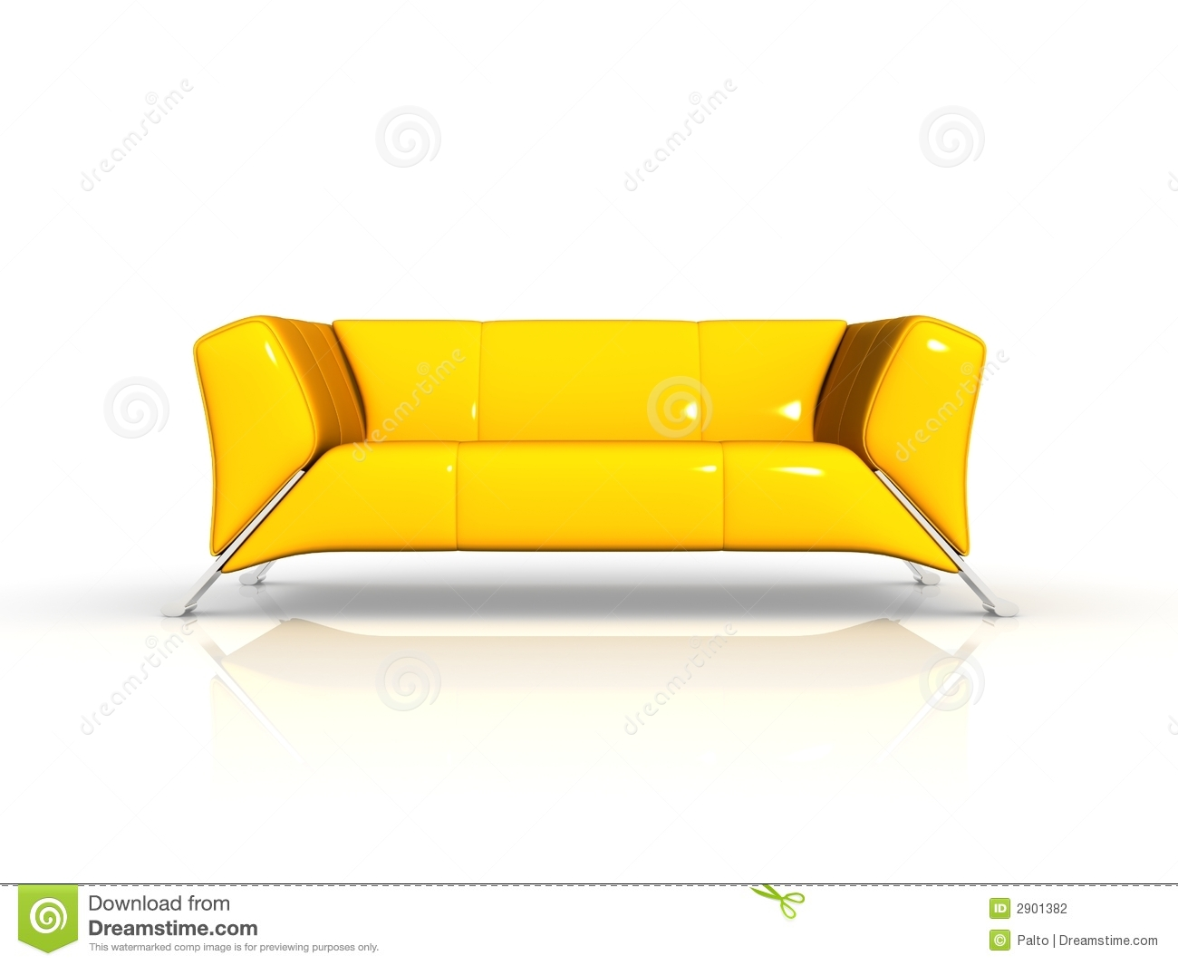 Yellow Leather Sofa Stock Illustration Illustration Of Boardroom 2901382