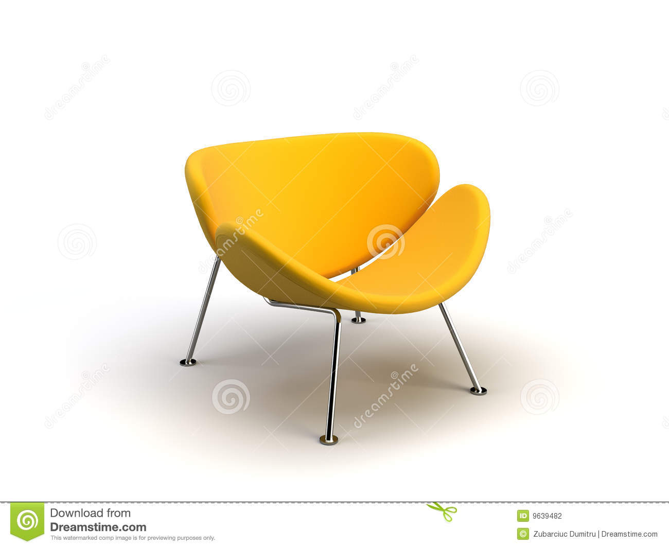 Yellow modern chair stock photography image 9639482