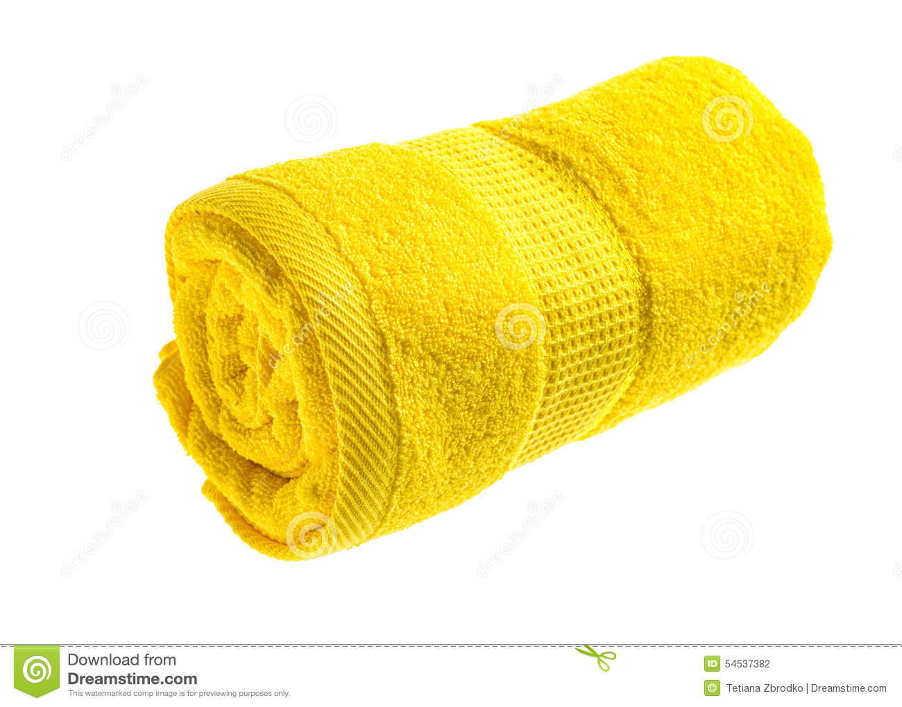 Yellow Towels Yellow Rolled Towel Stock Photo Image 54537382